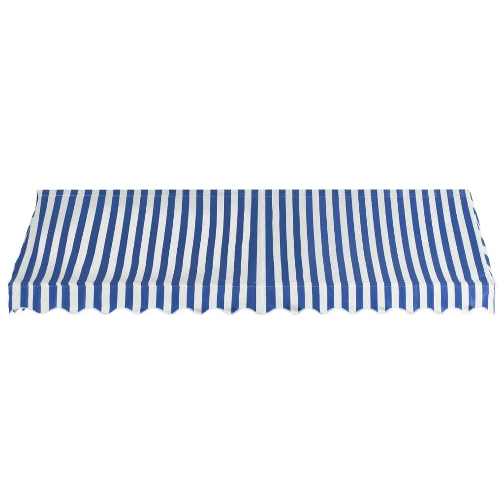 vidaXL Markise Blau Weiß 350x120 cm Balkonmarkise Sonnenschutz Garten Balkon