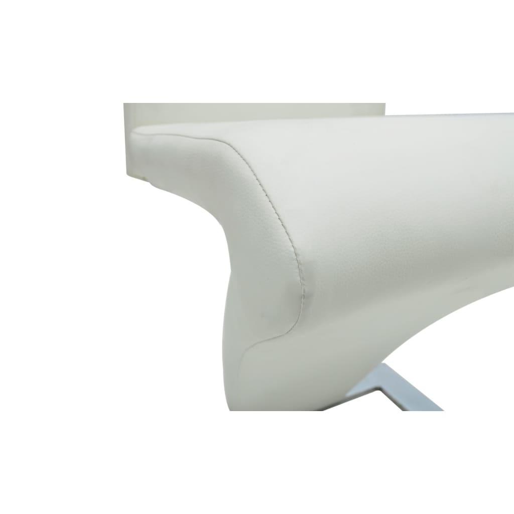 vidaXL 2x Sedie da Pranzo in Similpelle Bianche Design Moderne Seggiole Cucina
