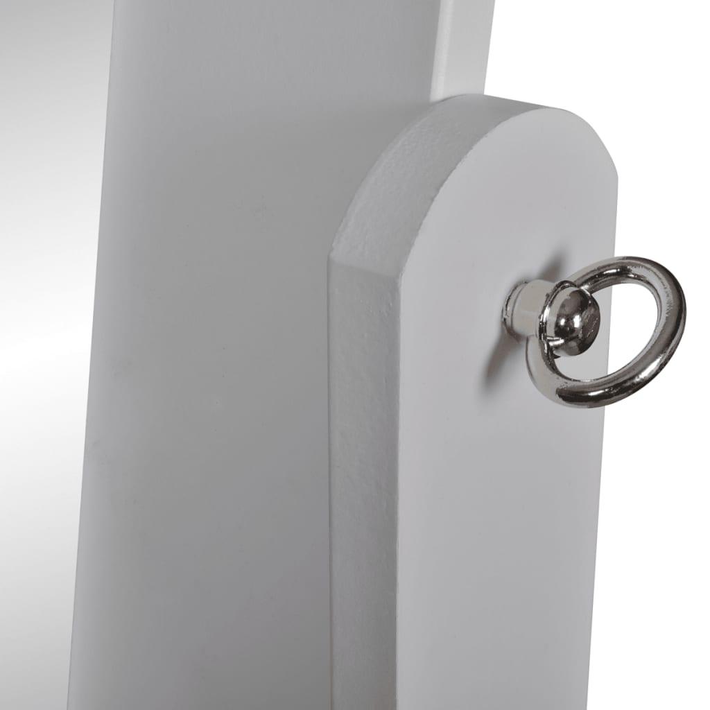 vidaXL Espejo de Pie Blanco Ajustable blanco Espejo De Pie tocador Decorativo