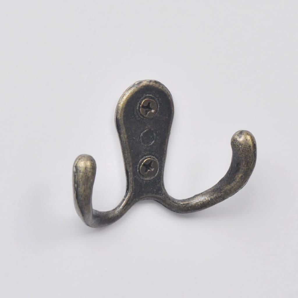 vidaXL Set 2 pz Appendiabiti attaccapanni da parete muro con 3 ganci bianchi