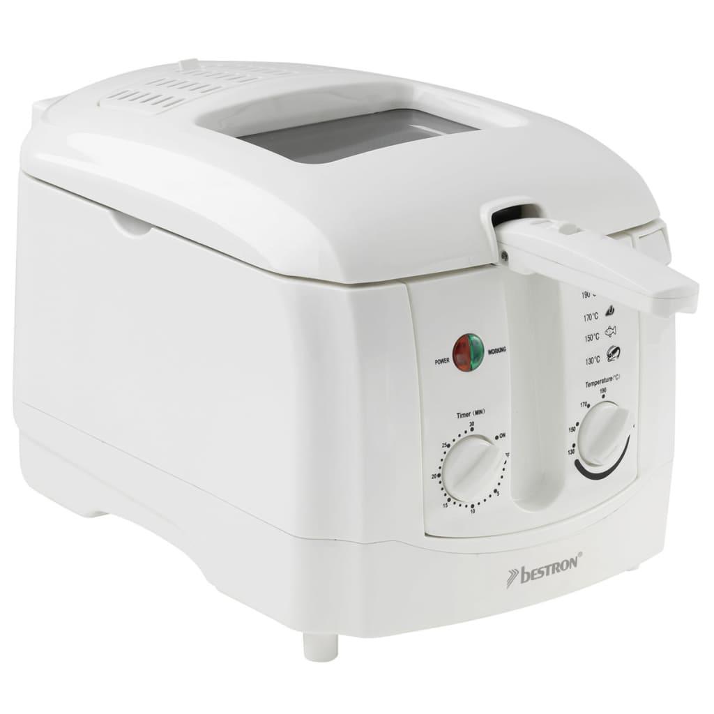 Bestron Friteuse 3 L blanche ADF3000 1800 W avec un panier Friteuse électrique