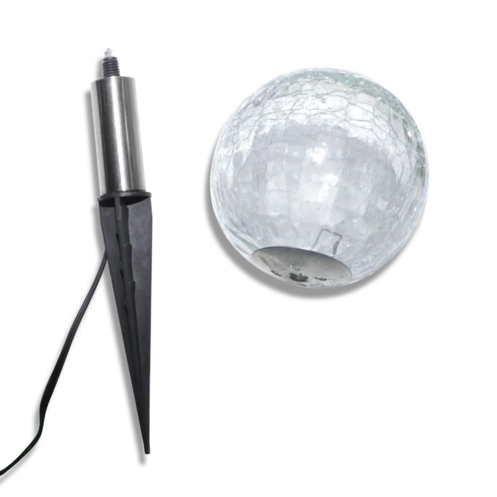 vidaXL 3x Boule Solaire LED Antichoc Lampe Éclairage Solaire Jardin Extérieur