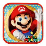 Assiettes carrées : Super Mario Bross
