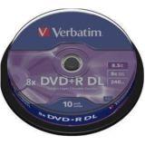 Verbatim DVD+R DL 8,5GB 8x 10-pack Spindel