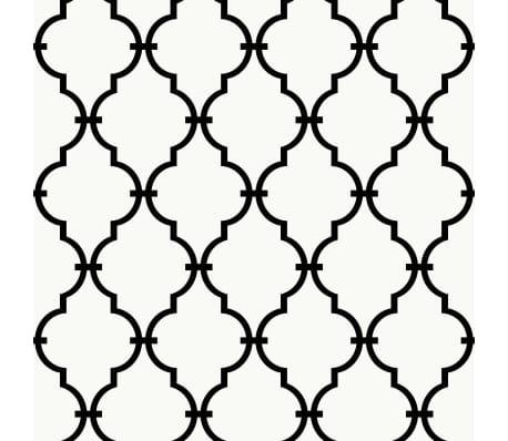 RoomMates Plakbehang modern traliepatroon wit RMK9018WP