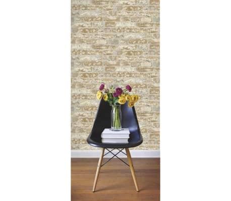 acheter roommates papier peint et collant brique stuqu marron rmk9037wp pas cher. Black Bedroom Furniture Sets. Home Design Ideas