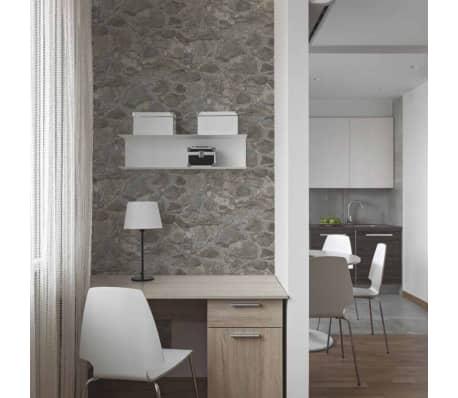 RoomMates Papier pelable et collant Pierre vieillie Gris RMK9096WP[7/9]