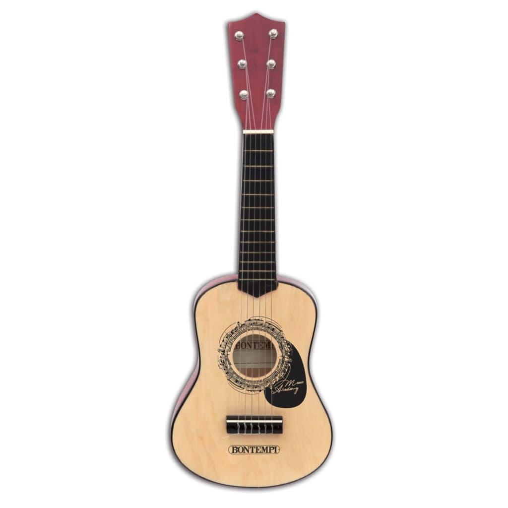 Bontempi houten gitaar met 6 snaren 55 cm