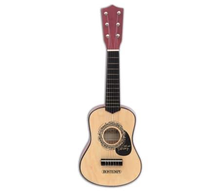Bontempi Guitarra infantil de madera con 6 cuerdas negro 55 cm