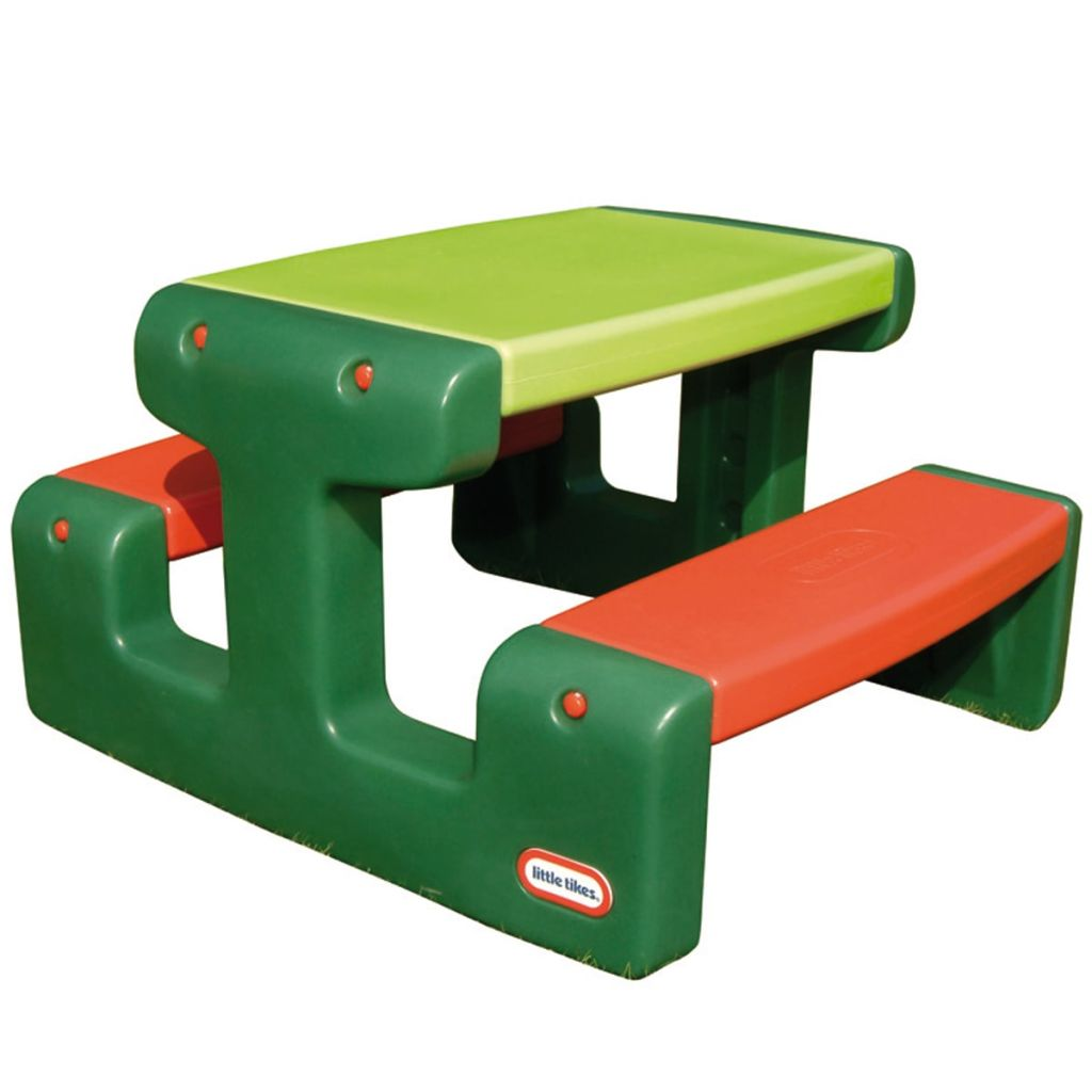 Little Tikes Junior piknikbord grønn og oransje