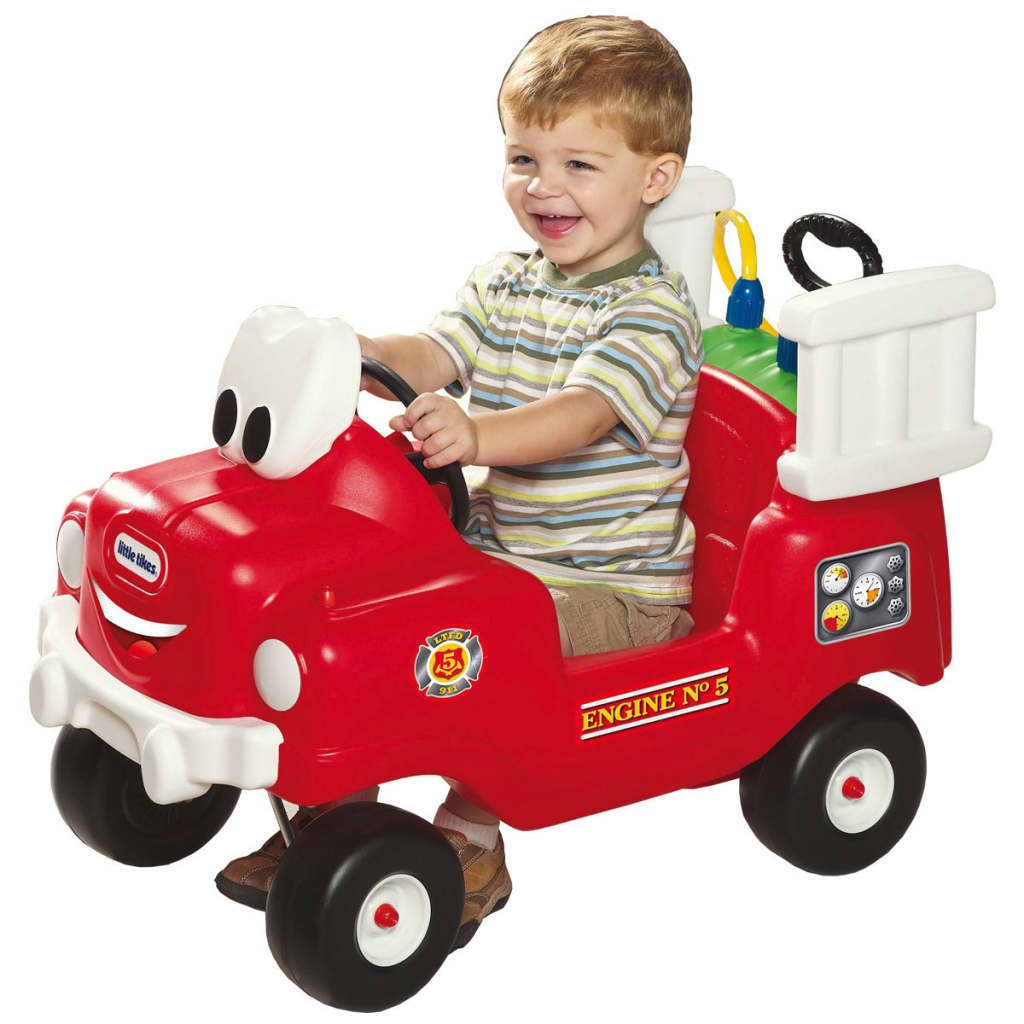Little Tikes Loopauto Spray and Rescue brandweerauto rood