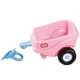 Remolque de juguete color rosa, marca Little Tikes