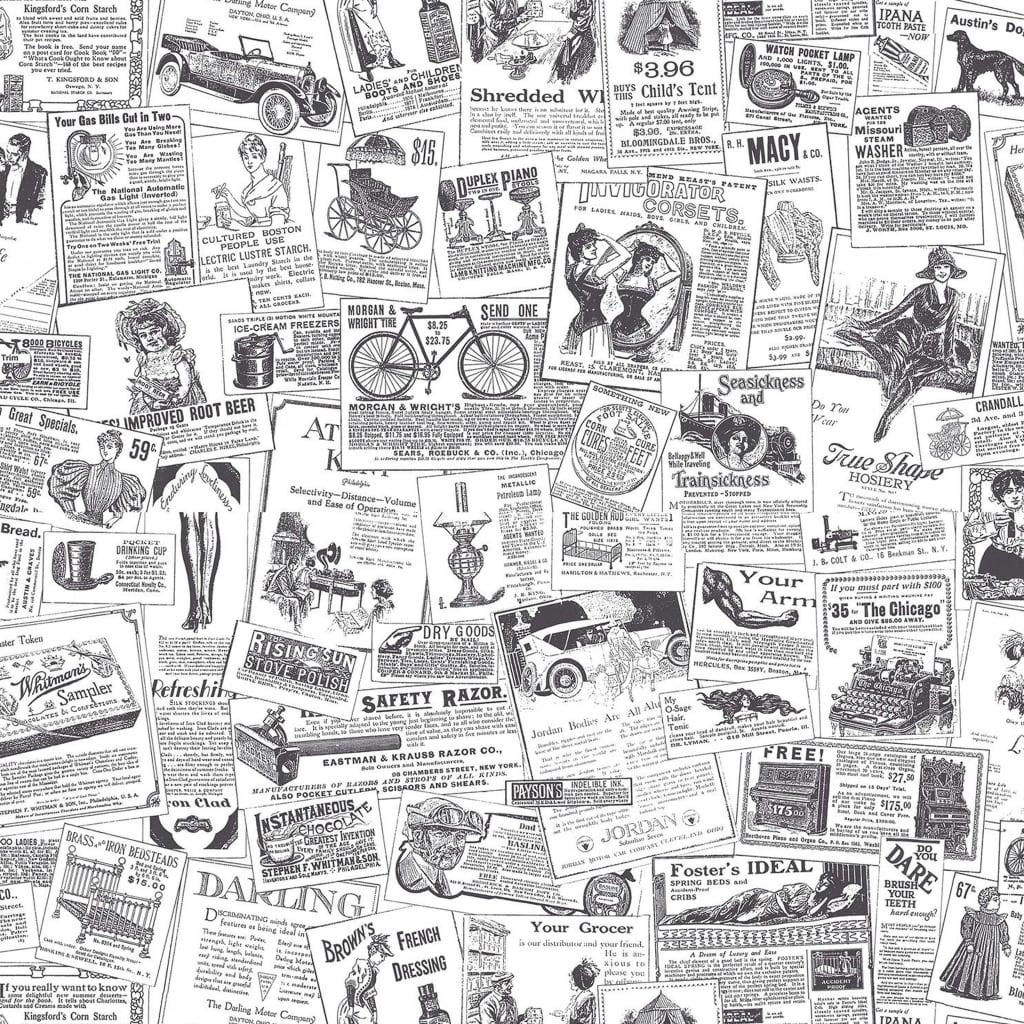 Homestyle Behang Papers zwart en wit