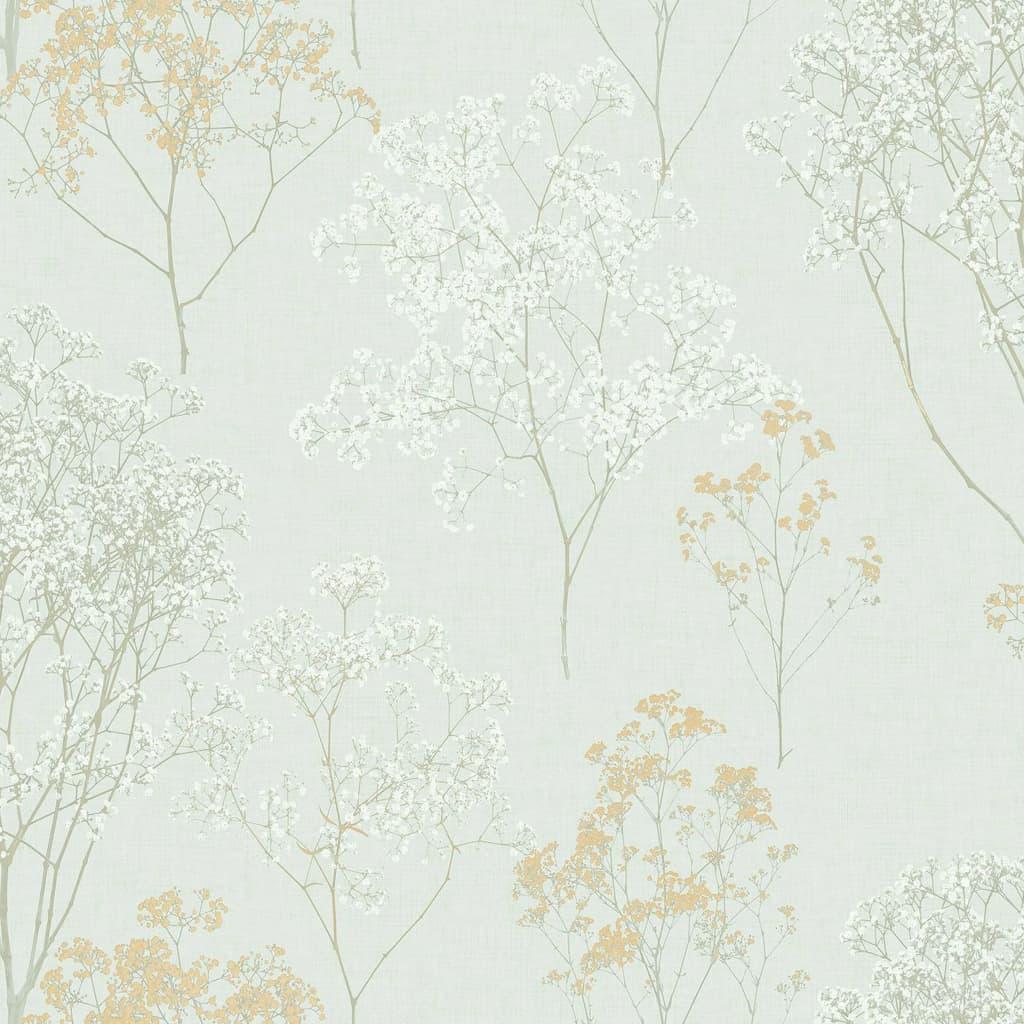 Homestyle Behang Herbs and Flowers groen en beige