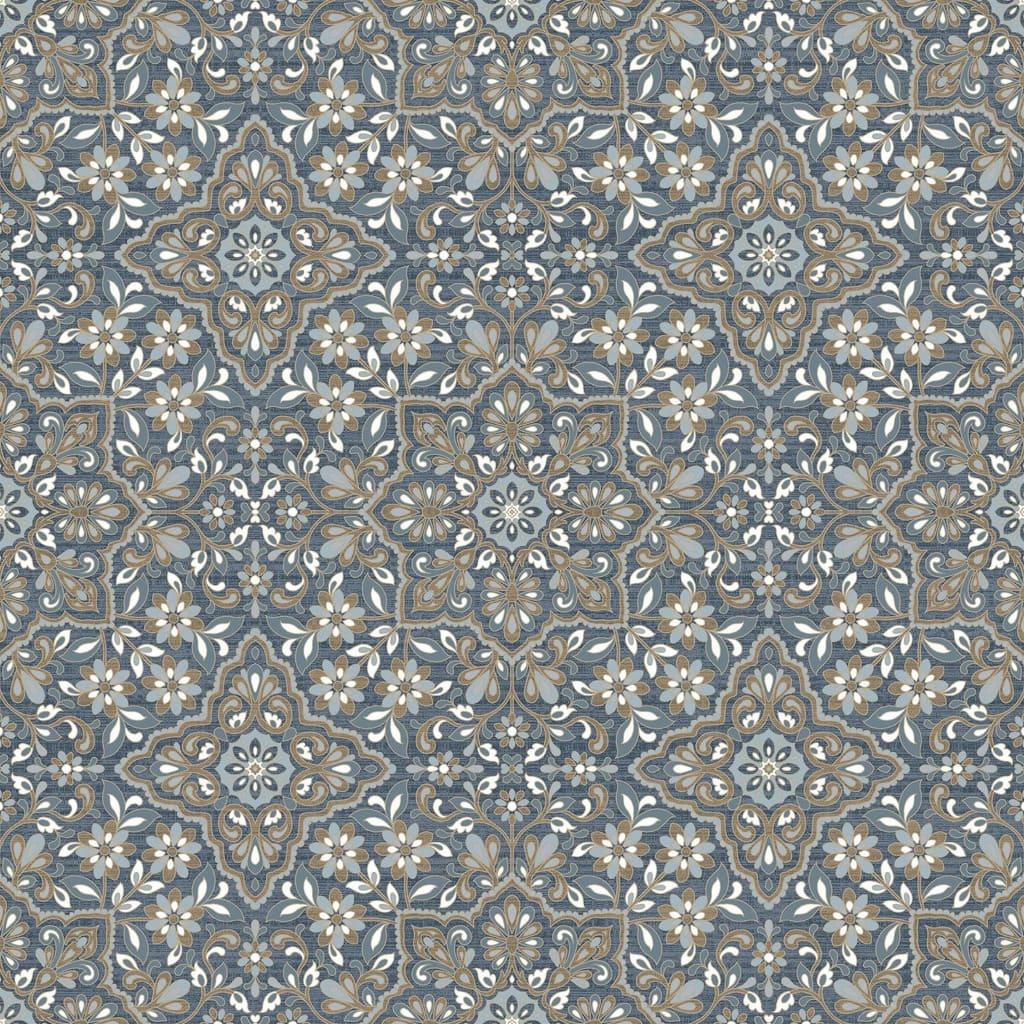 Homestyle Behang Portugese Tiles bruin en blauw