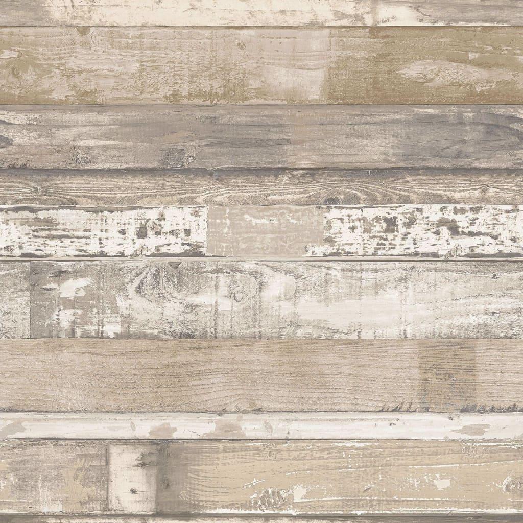Homestyle Behang Old Wood bruin en beige