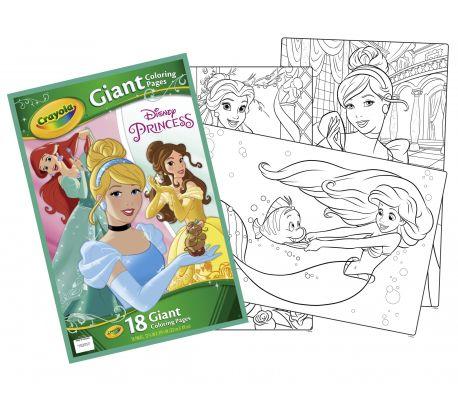 Kleurplaten Disney Kopieren.Crayola Giant Kleurplaten Princess 32 X 49 Cm 18 Stuks Online Kopen