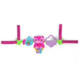 Bright Starts Barra de juguetes musical Busy Birdies rosa K52159