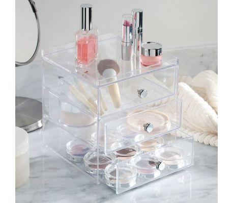 Boite de rangement pour cosmétiques 3 tiroirs InterDesign[3/3]