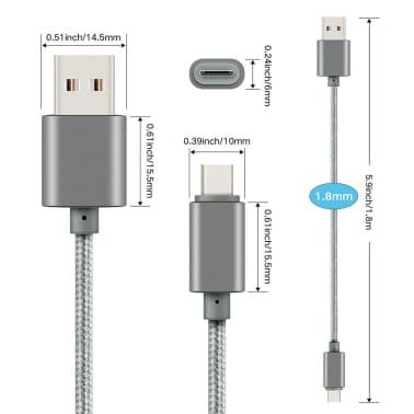 2 m Micro USB -kaapeli latausta ja tiedonsiirtoa varten - Musta[2/5]