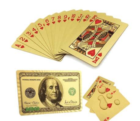 Spelkort - Kortlek i 24K Guldplätering[1/8]