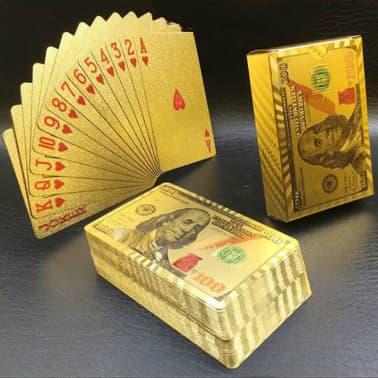 Spelkort - Kortlek i 24K Guldplätering[4/8]