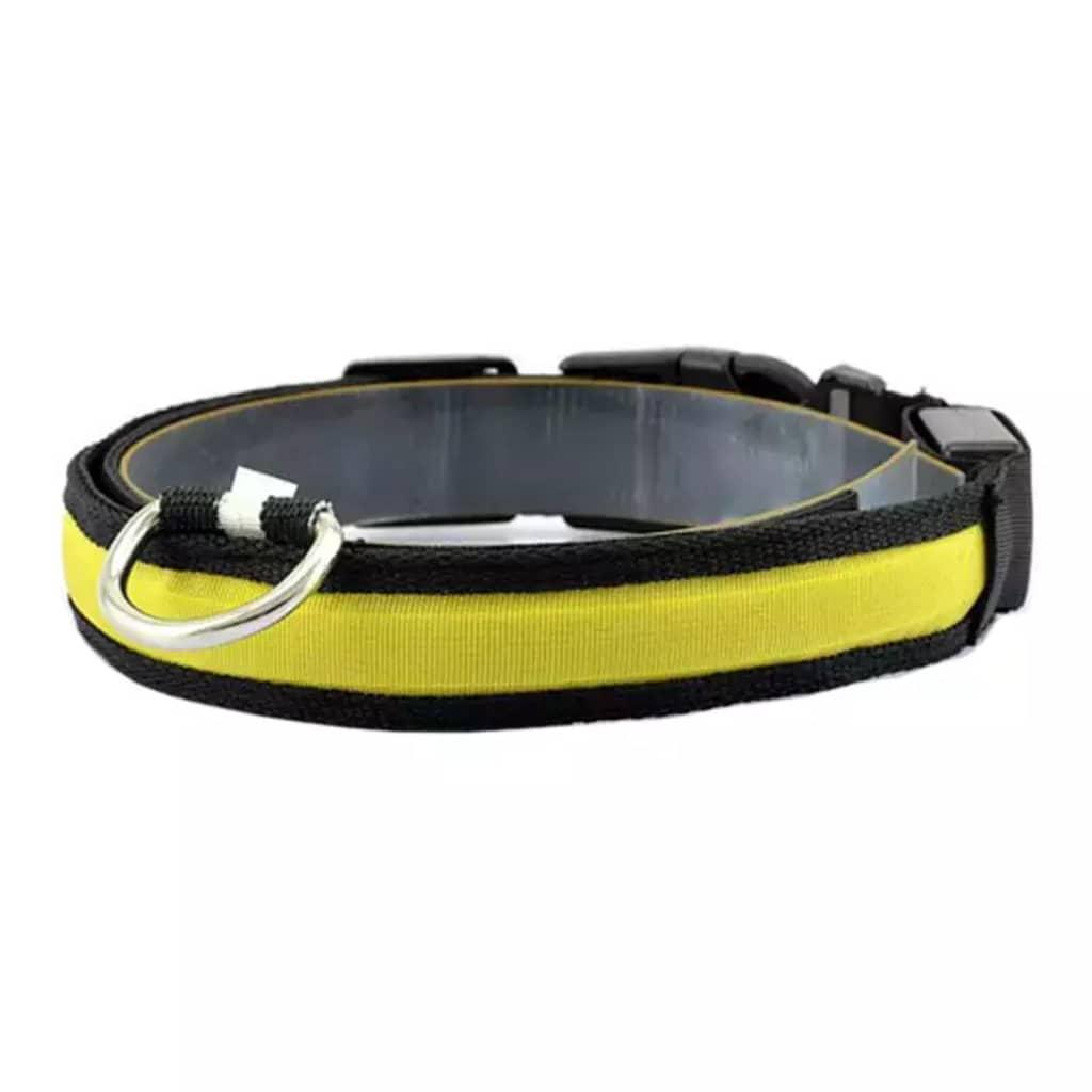 eStore Hundhalsband med LED Ljus - Gul - S