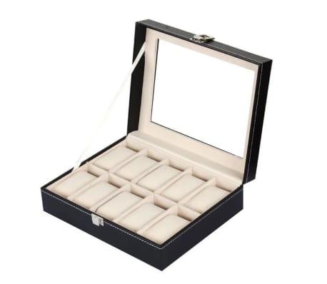 Lyxig Klockbox / Klocklåda för 10 Klockor[2/5]