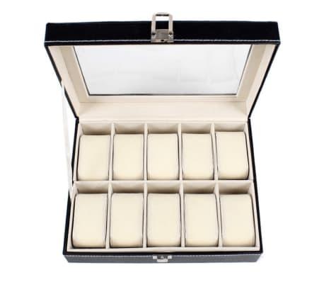 Lyxig Klockbox / Klocklåda för 10 Klockor[4/5]