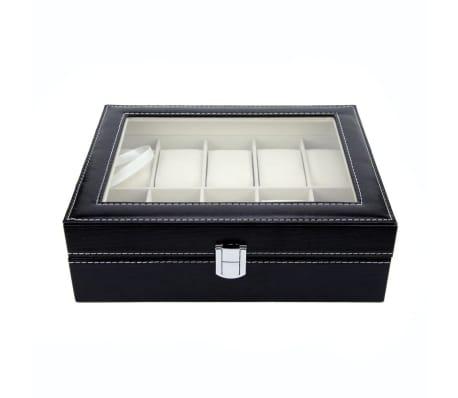 Lyxig Klockbox / Klocklåda för 10 Klockor[5/5]
