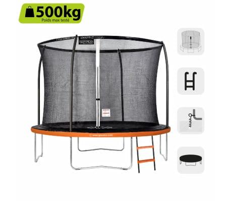 GREADEN Trampoline de jardin 305 Pack MAX Échelle/Housse/Ancrage