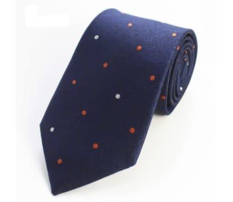 Stilig slips med prickig mönster