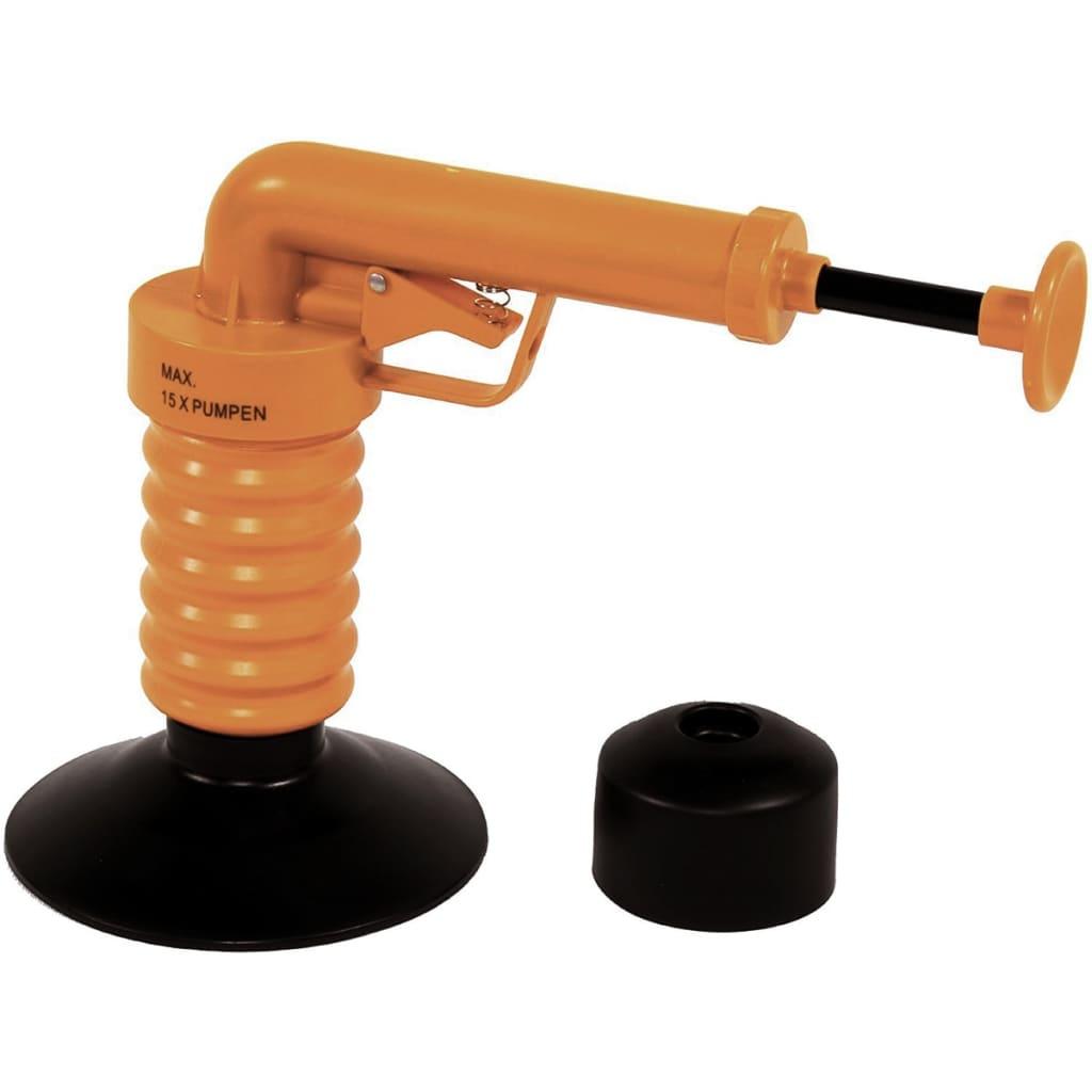 Afbeelding van Drain Buster Afvoerontstopper handmatig oranje en zwart