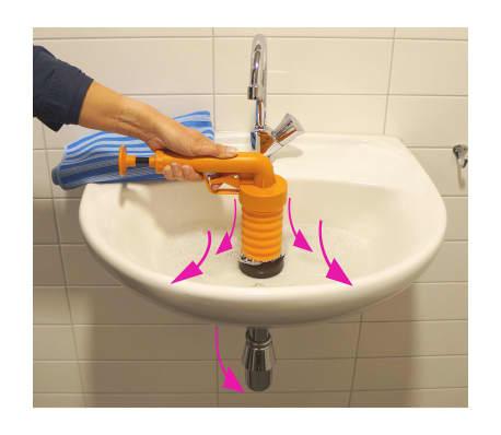 Drain Buster Handhållen vaskrensare orange och svart[6/12]