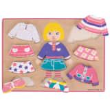 Bigjigs Toys Dressing Girl Puzzle - Mix & Matching Game