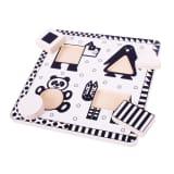 Bigjigs Toys Animals Black and White Puzzle