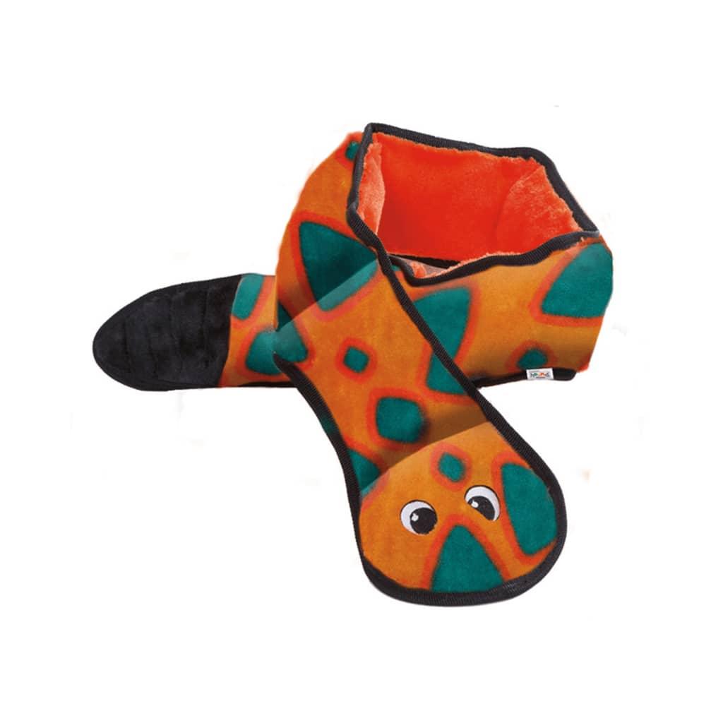 Afbeelding van Outward Hound Hondenspeeltje slang Invincibles 6 piepers oranje 2584