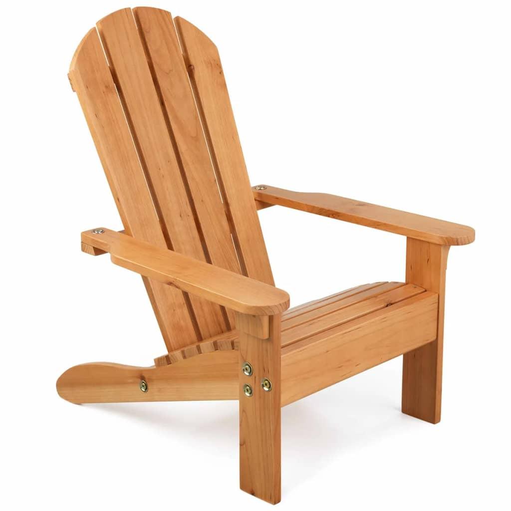 Afbeelding van KidKraft Adirondackstoel voor kinderen bruin hout 00083