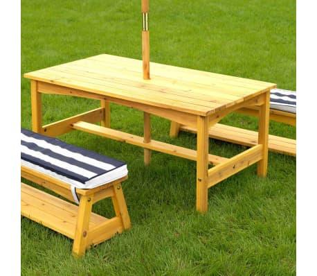 kidkraft gartentischset mit bank f r kinder marineblau holz 00106 zum schn ppchenpreis. Black Bedroom Furniture Sets. Home Design Ideas