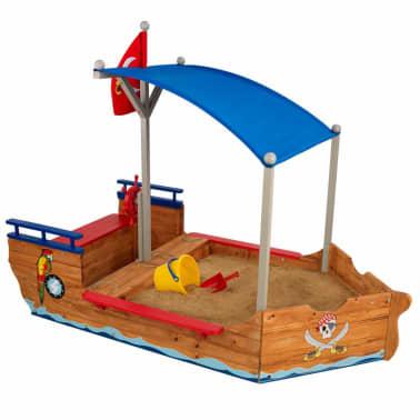 Kidkraft Bac à sable bateau de pirates extérieur avec auvent Bois 00128[1/7]