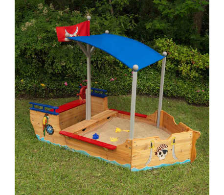 kidkraft outdoor piratenschiff mit sandkasten dach holz 00128 g nstig kaufen. Black Bedroom Furniture Sets. Home Design Ideas