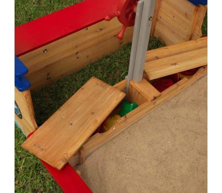 kidkraft outdoor piratenschiff mit sandkasten dach holz 00128 g nstig kaufen. Black Bedroom Furniture Sets. Home Design Ideas