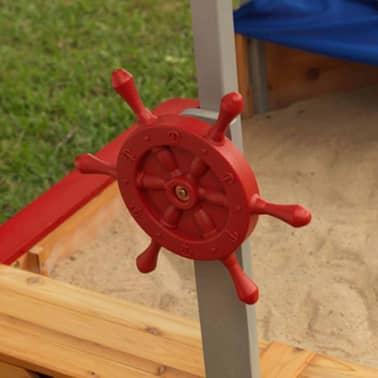 Kidkraft Bac à sable bateau de pirates extérieur avec auvent Bois 00128[4/7]