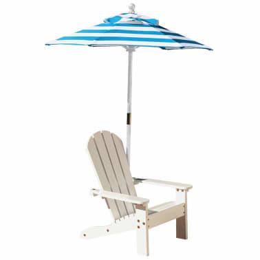 für Kinder Weiß Stuhl Adirondack Sonnenschirm KidKraft mit CtrQdshx