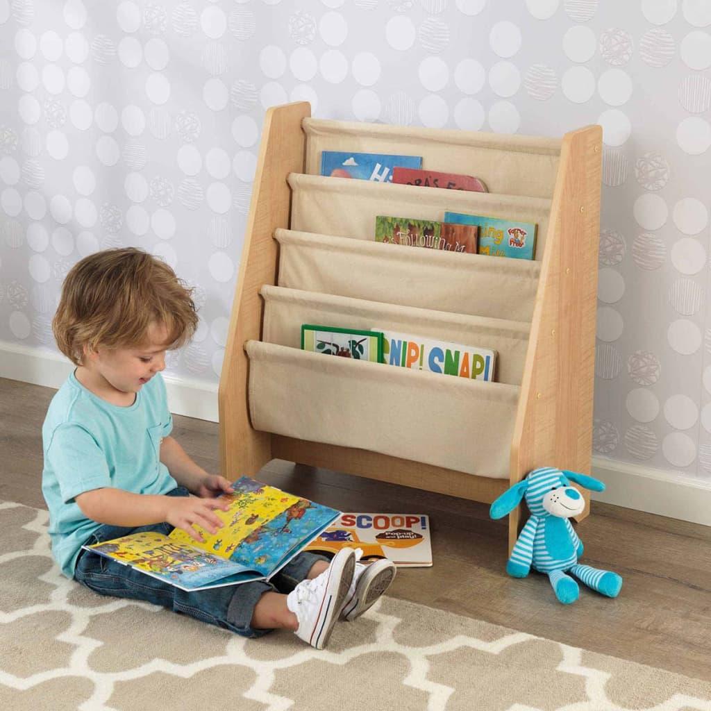 KidKraft Kinder boekenrek met hangvakken bruin 61x29,9x71,1 cm 14221