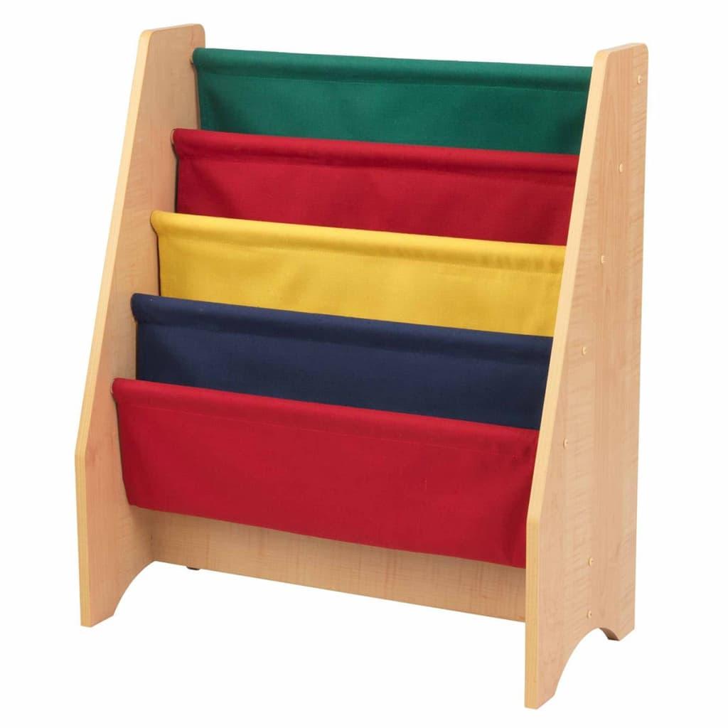 Afbeelding van KidKraft Kinder boekenrek+hangvakken meerkleurig 61x29,9x71,1 cm 14226