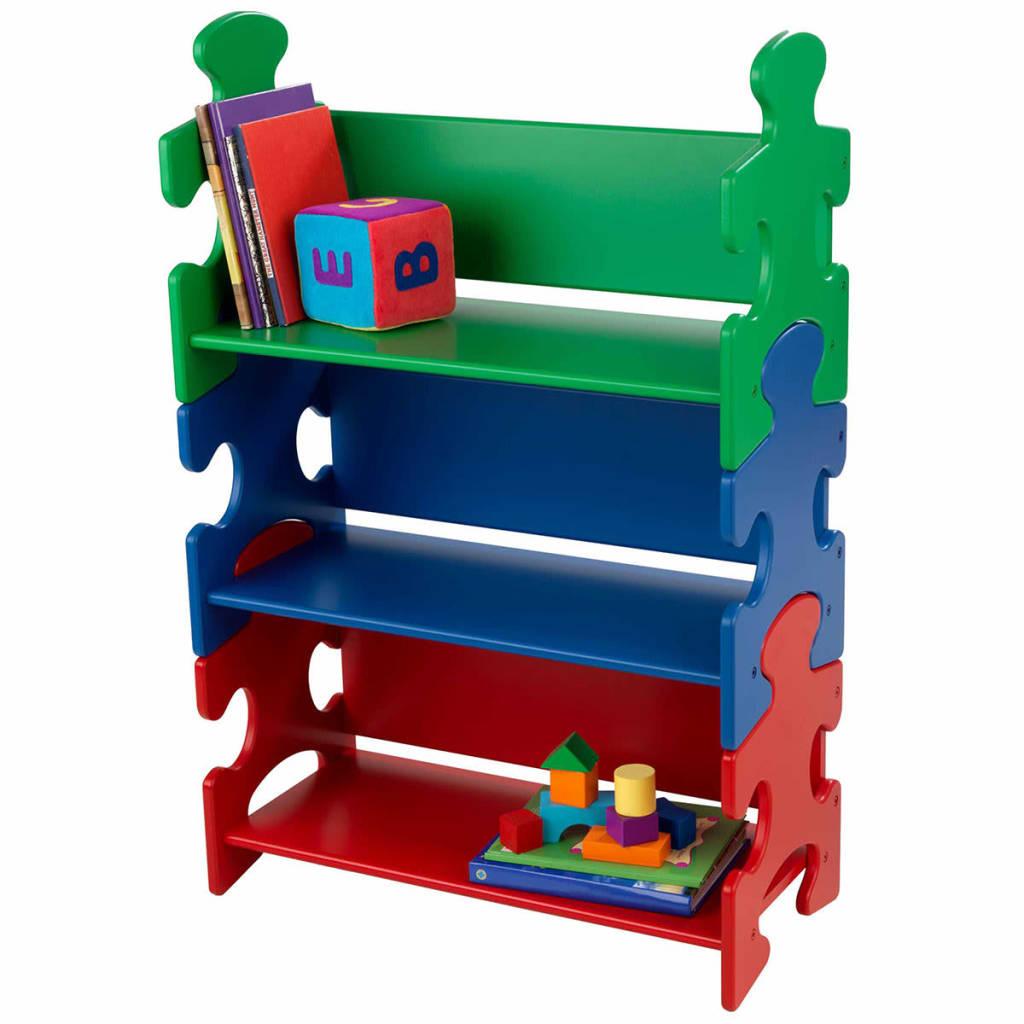 Afbeelding van KidKraft Kinder boekenkast puzzel meerkleurig 62,7x29,5x97,2 cm 14400
