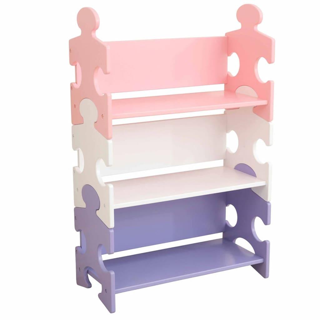 Afbeelding van KidKraft Kinder boekenkast puzzel meerkleurig 62,7x29,5x97,2 cm 14415