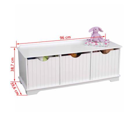 kidkraft banc de rangement pour enfants blanc 96x39 6x38 7 cm 14564. Black Bedroom Furniture Sets. Home Design Ideas