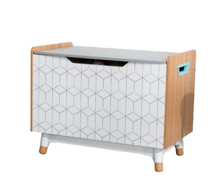 KidKraft Leksakslåda Mid-Century Modern grå 73,99x46x55,88 cm